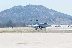 海军陆战队员F/A-18C大黄蜂VMFA-232,执行在Mi的红魔 库存图片