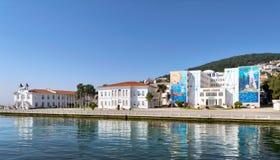 海军高中, Heybeliada海岛第二大王子Islands位于马尔马拉海,伊斯坦布尔 库存照片