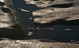 海冰的形式 免版税库存图片