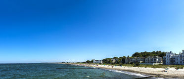 海利根达姆海滩散步街道 库存图片