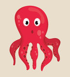 海动物区系动画片 免版税库存图片