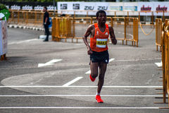 海勒・格布雷西拉西耶渣打马拉松 库存照片
