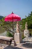 海南屯昌Tianhu塔房子音乐小雕象半岛镇  免版税库存照片
