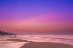海南萨尼亚海滩日出  免版税库存图片