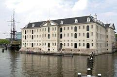 海博物馆和复制品VOC船阿姆斯特丹 免版税库存照片
