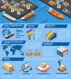 海口货物运输服务等量infographic 皇族释放例证