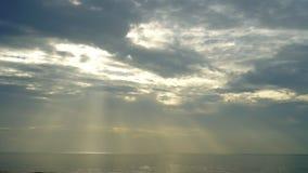 海和天空在日落 股票录像