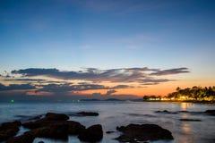 海和天空的长的曝光图象 库存照片