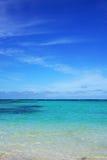 海和天空背景 免版税库存图片