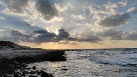 海和天空视图 免版税图库摄影