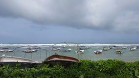 海和小船 库存图片