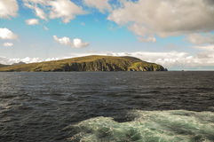 海和山在合恩角附近 免版税库存照片