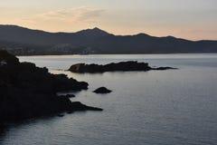 海和山在埃尔波尔特德拉塞尔瓦 库存图片