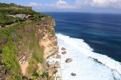 海和岩石的美丽的景色 库存图片