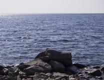 海和岩石风景  图库摄影