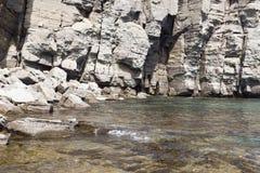 海和岩石 免版税图库摄影