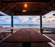 海和日落天空 免版税图库摄影
