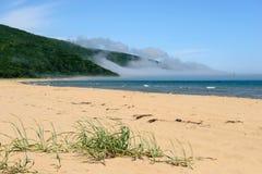 海和沙子美好的风景 免版税图库摄影
