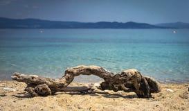 海和沙子风景 免版税库存照片
