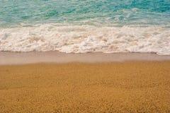 海和沙子 库存照片