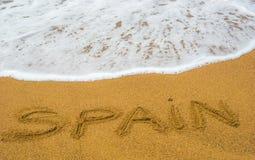 海和沙子 免版税库存图片
