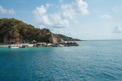 海和海岛 免版税库存照片