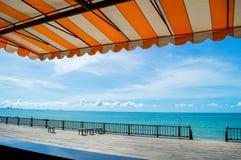 海和海洋墙纸背景 免版税库存图片