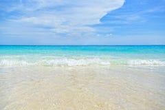 海和海滩背景 库存图片