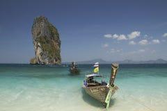 海和海滩, Krabi,泰国 库存图片