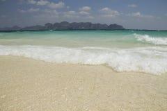 海和海滩, Krabi,泰国 图库摄影