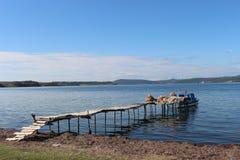 海和渔夫 图库摄影