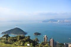 海和蓝天在香港 库存图片