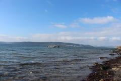 海和镇静天空 库存图片