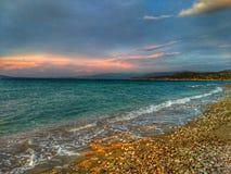 海和颜色 图库摄影