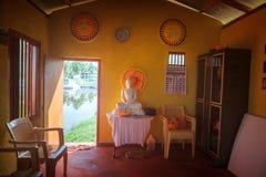 海啸博物馆寺庙办公室内部  著名海啸纪念雕象,位于Peraliya村庄,在Hikkaduwa旁边, Sri 免版税库存照片