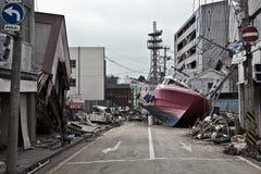 海啸日本2011年福岛 免版税图库摄影