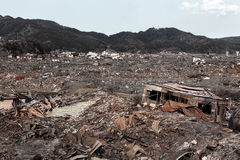海啸日本2011年福岛 库存图片