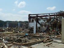 海啸的作用在日本 免版税库存图片