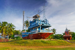 海啸纪念品在Baan Nam Khem 库存照片