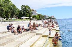 海器官在扎达尔,克罗地亚 免版税库存图片
