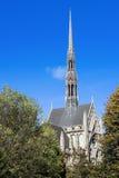海因茨教堂通过树 免版税图库摄影