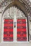 海因茨被关闭的教堂门 免版税图库摄影