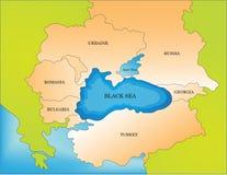 黑海国家地图 免版税库存图片