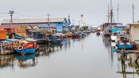 海在三宝垄印度尼西亚 免版税库存照片