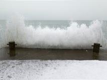 海在冬天,冰冷原始 库存图片