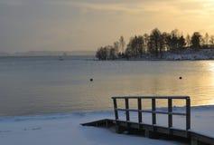 海在冬天 库存图片