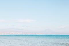海在圣胡安 库存图片