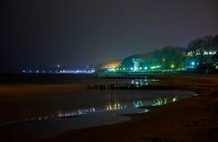 海在晚上 免版税库存图片