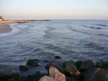 黑海在晚上 免版税库存照片