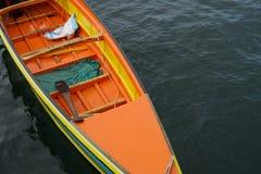 海在沙巴的吉普赛人小船 免版税库存照片
